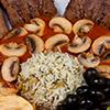 خوراک زبان با سس قارچ
